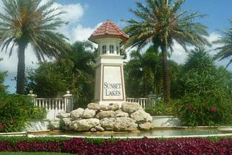 Sunset Lakes community
