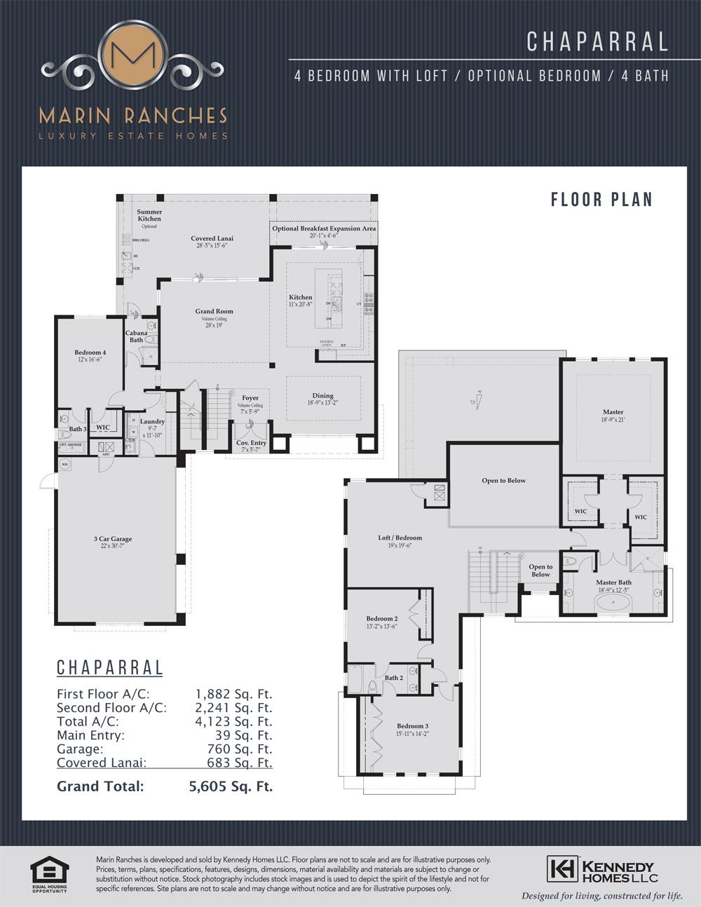 Chaparral Floorplan Velez Real Estate Group